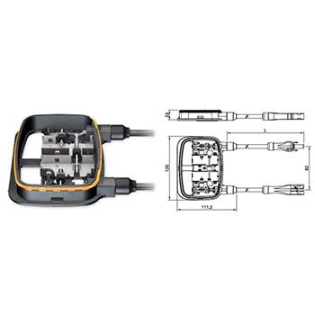 连接焊带   端部可焊接,锡焊,也可选择接线卡座.